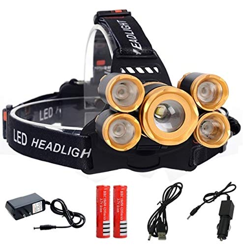 (1 Pack 20000 Lumen 20W 4 Mode CREE XML-T6 LED Headlamp Ultra Xtreme Waterproof Headlights Remarkable Fashionable High Lumens Bright Light Hiking Running Hunting Camping Tactical Flashlights, Type-03)