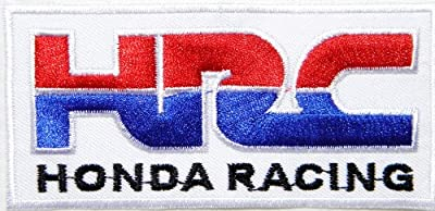 HONDA RACING HRC Motorsport Motorcycle Motocross Logo Sign Biker Racing Patch Iron on Applique Embroidered T shirt Jacket Costume BY SURAPAN