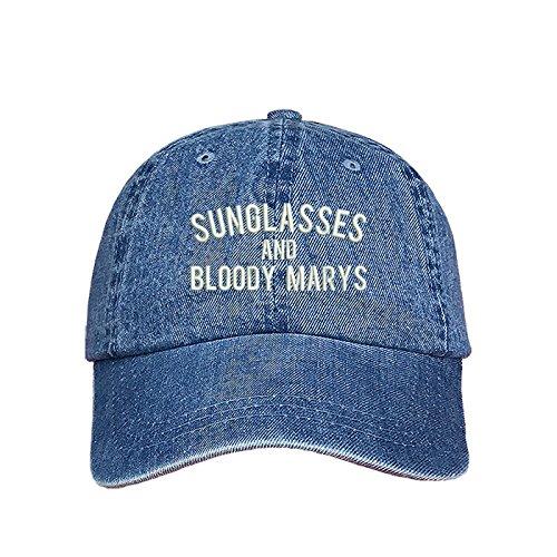 (Prfcto Lifestyle Sunglasses and Bloody Marys Dad Hat - Denim Baseball Cap- Unisex)