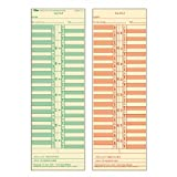 TOPS Semi-Monthly Time Cards, Green Ink Front, Red Ink Back, 3.5 x 10.5 Inches, 500-Count, Manila (1276)