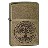 Zippo 29149 Tree of Life-Inch Pocket Lighter Antique Brass