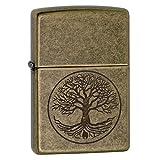 "Zippo ""Tree of Life"" Pocket Lighter, Antique Brass"