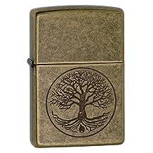 Zippo Antique Brass Eternal Tree of Life Lighter