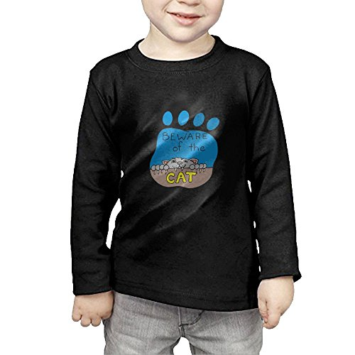 Iii Dri Cat (Eilinqch Beware Of Cat Baby&Toddlers' Top Long Sleeve T-Shirt 3 Toddler)