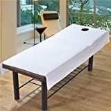Cotton plain bedspreads,Beauty salon bed sheets beauty bed dedicated massage stripe spa coverlet with holes,Twin full-D 80x190cm(31x75inch)
