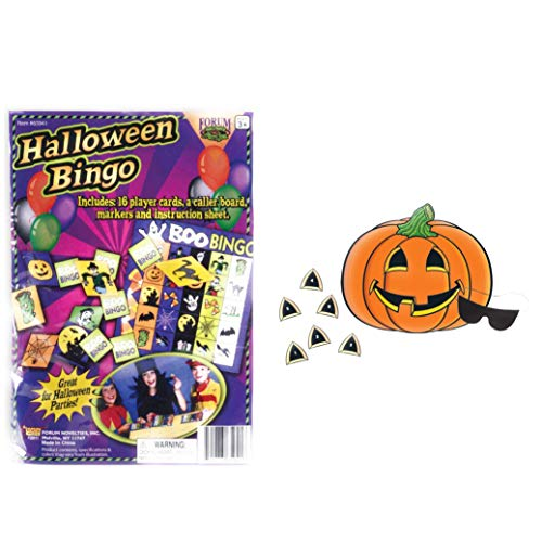 Kids Halloween games - Bingo and Pin the Nose on the Pumkin