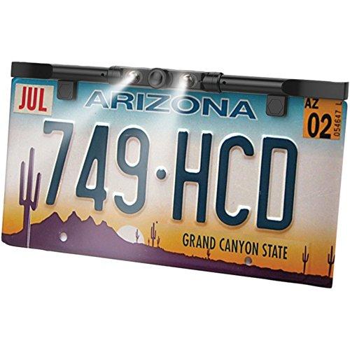 Boyo VTL425HDL License Plate Backup Camera Ultra Slim HD W/LED Lights Black Car Accessories