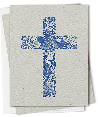 (Twigs Stationery Christian Cross Note Card Set - 12 Recycled Cards and Envelopes - Made in USA)