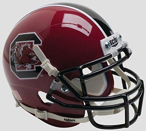 NCAA South Carolina Gamecocks Mini Authentic XP Football Helmet, Cardinal Alt. 1, Mini