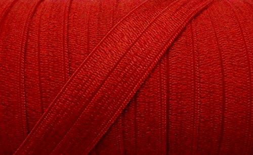 5 m elastisches Einfaßband 14 mm rot