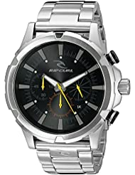 Rip Curl Mens A2731BLK Maverick Chrono Analog-Display Quartz Silver-Tone Watch