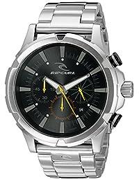 Rip Curl Men's A2731BLK Maverick Chrono Analog-Display Quartz Silver-Tone Watch