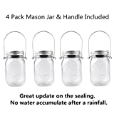 CHBKT 4-Pack Solar-powered Mason Jar Lights