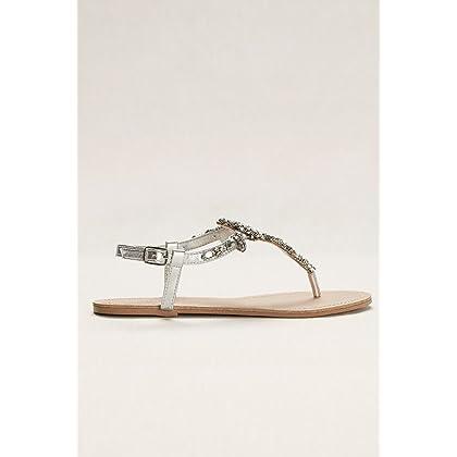 997dec83ab271f ... 5 David s Bridal Jeweled T Strap Sandal Style Gemma