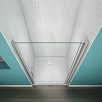 Porte de douche 100x185cm Porte pivotante en niche verre anticalcaire
