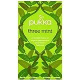 Pukka Three Mint Tea Organic Peppermint Spearmint and Fieldmint Tea -- 20 Tea Bags