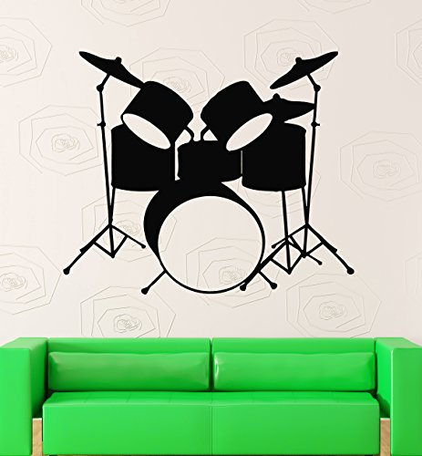 wall-stickers-vinyl-decal-drums-music-rock-pop-musical-instruments-ig382