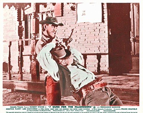 7 Guns fOR tHE mACgREGORS ORIGINAL LOBBY CARD ROBERT WOOD GRABS COWBOY -  Silverscreen