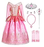 MOREMOO Girls Princess Dress up Aurora Costume