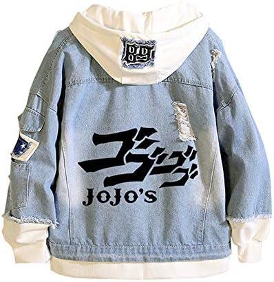 MOYOOE Anime JoJo Bizarre Adventure Killer Queen Demin Jacket Hoodie Cosplay Jeans Sweatshirt Harajuku Boys 2