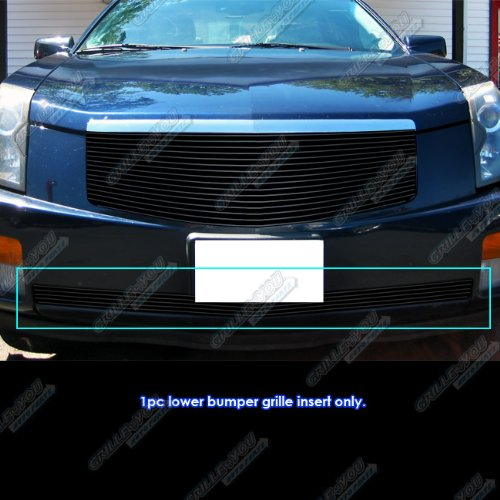 APS Compatible with 2003-2007 Cadillac CTS Black Lower Bumper Billet Grille Grill Insert A65378H