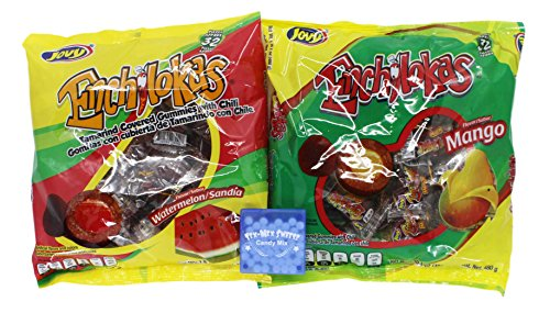 Jovy Enchilokas Tamarind Mexican Candy Bundle. 2 Bags of Chewy Tamarindo Covered Gummies Con Chile. Includes Watermelon & Mango Flavors and Mints From Tex-Mex Sweetz