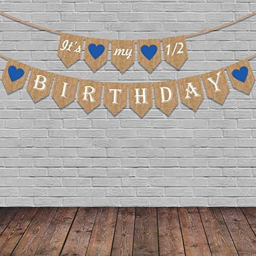Party Propz Half Birthday Decoration It Is My 1 2 Banner