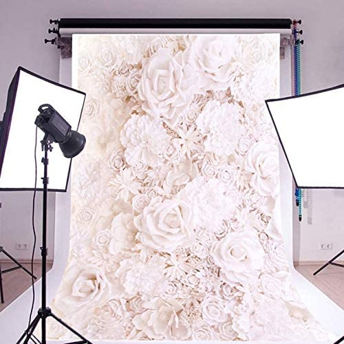 LINKICH 5x7ft Baby Flower Wall Photography Backdrop Romantic Vinyl Cloth Background for Photo Studio Props