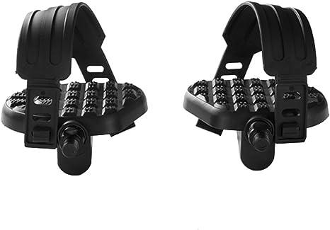 WINOMO una par de correas de los pedales de bicicleta de ejercicios calapiés de la correa para el bicicleta de cabestrillo fijo: Amazon.es: Deportes y aire libre