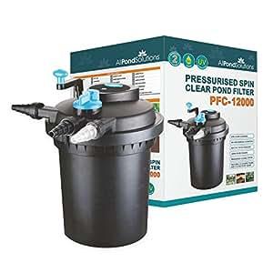 All pond solutions filtro a presi n y esterilizador uv for Filtros uv para estanques peces
