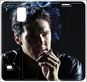 samsung galaxy S5 Flip Leather Phone Case Benedict Cumberbatch SF1DG6269168