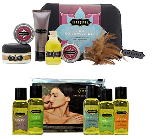 Kamasutra Getaway Kit + Massage Tranquility Kit