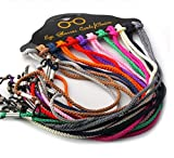 Elandy Colorful Nylon Universal Reusable Adjustable Paracord Sunglass/Eyewear Lanyard Sunglass Neck Strap Rope Lanyard Holder Pack of 12pcs