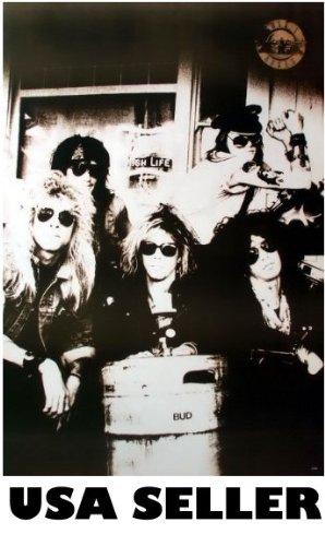 Guns n' Roses black & white kegger Poster GnR with Axl Rose & Slash