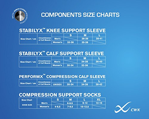 CW-X Stabilyx Joint Support Compression Knee Sleeve for Mens and Womens by CW-X (Image #4)