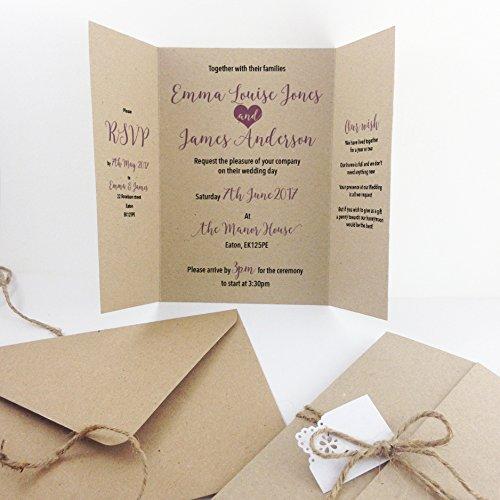Eccezionale Made by Mika - Inviti da matrimonio, realizzati a mano in carta da  WN29