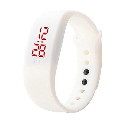 Reloj de pulsera unisex con correa de silicona de Brussels08, pantalla digital LED, estilo
