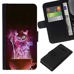 All Phone Most Case / Oferta Especial Cáscara Funda de cuero Monedero Cubierta de proteccion Caso / Wallet Case for Samsung Galaxy A3 // Cup Witch Halloween Mysterious Evil