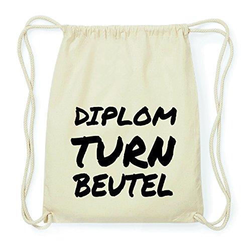 JOllify DIPLOM Hipster Turnbeutel Tasche Rucksack aus Baumwolle - Farbe: natur Design: Turnbeutel BTBRsZ