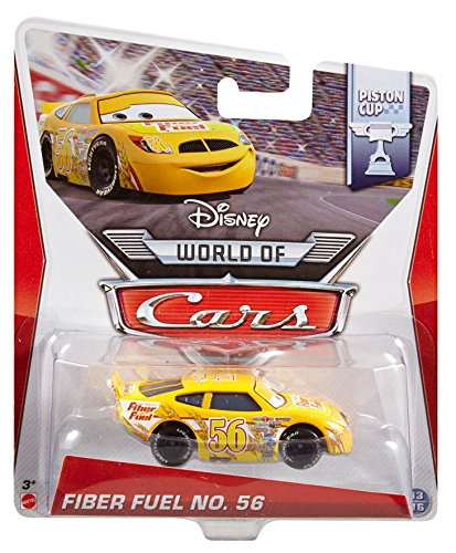 Amazon.com: Disney World of Cars, Piston Cup Die-Cast Vehicle, Fiber Fuel No. 56 #13/16, 1:55 Scale: Toys & Games