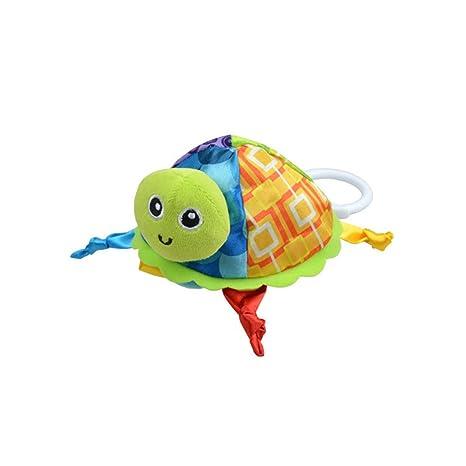Amazemarket Bebé Súper Suave Absorbente Comodidad 3D Encantador Tortuga Relleno Animales Juguete Toalla con Mordedor (