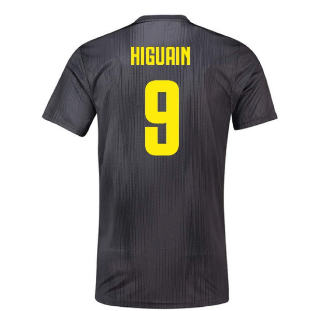 2018-19 Juventus Third Football Soccer T-Shirt Trikot (Gonzalo Higuain 9)