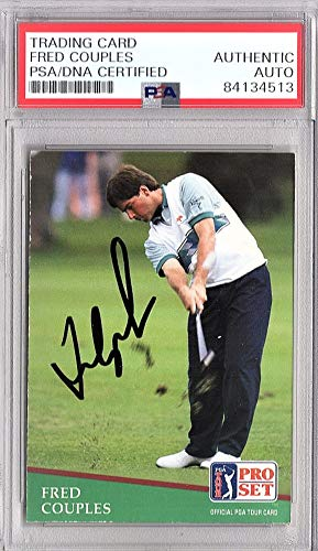 Fred Couples Signed - Auto 1991 Pro Set PGA Golf Card - PSA/DNA Certificate of Authenticity - PSA Slabbed Holder