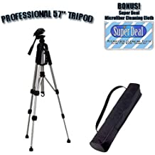PROFESSIONAL 57 Inch Tripod with Carrying Case For The Kodak Easyshare CX7530, CX7430, CX7330, CX7300, CX7220, DX6440, DX6340, DX4530, CX6330, CX6230, CX6200, CX4300, DX4330, CX4200, CX4230, DX3215, DX3700 Digital Cameras with Exclusive FREE Complimentary