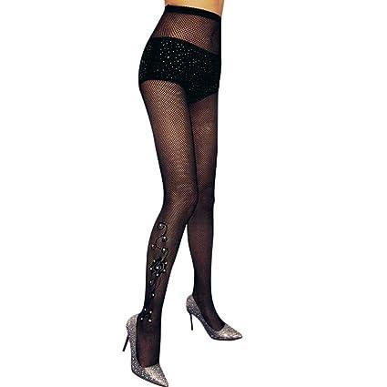 246e71a4b39 Amazon.com  Womens Sexy Hose Slim Net Fishnet Stockings Diamonds Stockings  Tights High Waist Thigh-High Stockings Pantyhose (C