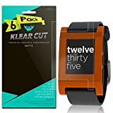 Pebble E-Paper SmartWatch Screen Protector [6-Pack], Klear Cut High Definition Matte Screen Protector for Pebble E-Paper SmartWatch PET Film Anti-Glare and Anti-Bubble Shield