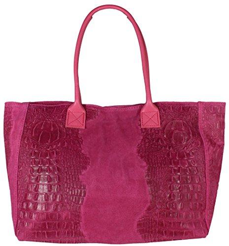 pour Kroko Freyday à main Pink Sac femme q18tXxfw