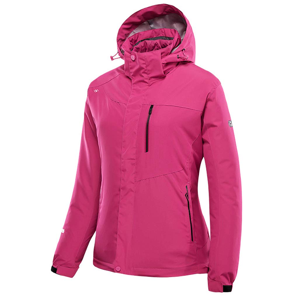 Zilee Women Outdoor Warm Jacket 3 in 1 Breathable Ski Coat Windbreaker Fleece Inner Ltd