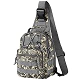 usmc cycling - Bagerly Unisex Canvas Sling Bag CrossBody Shoulder Chest Daypack for Camping, Hiking, Cycling Outdoors Sports (Camouflage)
