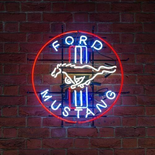 GreeneerG Ford Mustang Neon Sign Light Beer Bar Wall Display Decor Neon Light Night Light 19
